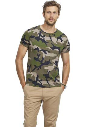 Ανδρικό μπλουζάκι παραλλαγής Camo