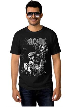 Rock t-shirt ACDC Angus Young, Brian Johnson