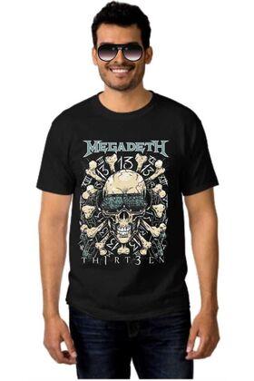 Μπλουζάκι Rock t-shirt MEGADETH 13 Thirteen Skull & Bones