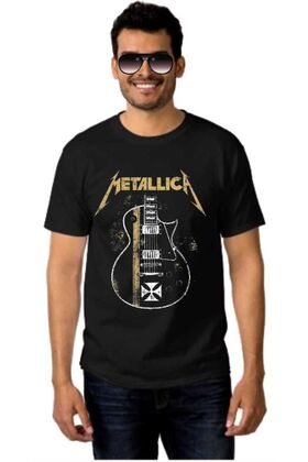 Μπλουζάκι Rock t-shirt METALLICA James Hetfield Gibson Guitar