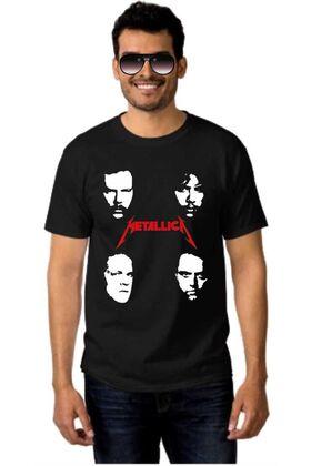 Μπλουζάκι Rock t-shirt METALLICA Faces Band