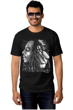 Μπλουζάκι Rock t-shirt BOB MARLEY Lion Rasta
