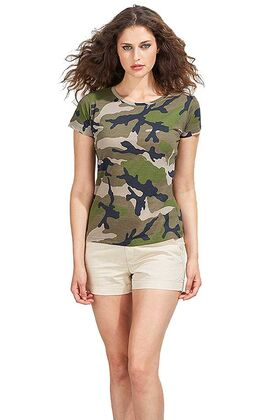 Γυναικείο T-shirt με στρογγυλή λαιμόκοψη Sols Camo Women 01187