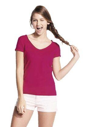 Γυναικειο t-shirt με λαιμοκοψη V και στρογγυλο φινιρισμα 11387 Mild