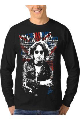 Μπλούζα Φούτερ Sweatshirt Rock John Lennon dj1260