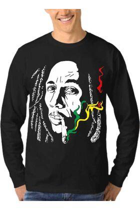 Μπλούζα Φούτερ Sweatshirt Rock BOB MARLEY dj1550