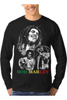 Μπλούζα Φούτερ Sweatshirt Rock BOB MARLEY dj1552