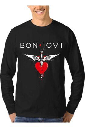 Μπλούζα Φούτερ Sweatshirt Rock BON JOVI dj1821