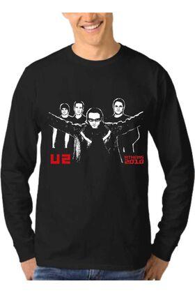 Μπλούζα Φούτερ Sweatshirt Rock U2 dj1841