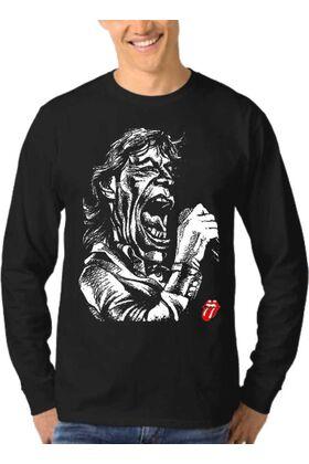 Μπλούζα Φούτερ Sweatshirt Rock ROLLING STONES dj1358
