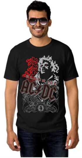 Rock t-shirt ACDC  Black Ice