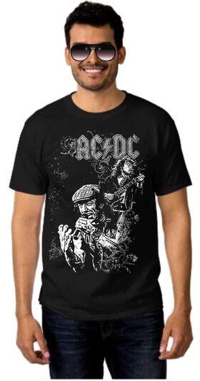 Rock t-shirt ACDC Angus Young, Brian Johnson